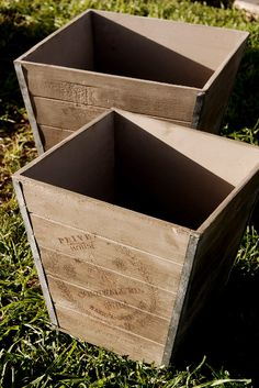 """Privet House Cornwall Rd. Wood Planter Boxes (2 boxes 14"""" & 13"""") $24 (for """"alter"""" and entrances)"""