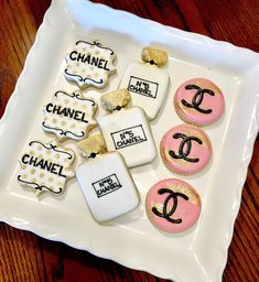 Featured Etsy Product - Magical Printable Chanel Cookies, Chanel Cake, Coco Chanel, 25th Birthday Cakes, Sweet 16 Birthday, Birthday Cookies, Sugar Cookie Dough, Sugar Cookies, Chanel Birthday Party