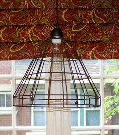 DIY Wire Basket Light Fixture