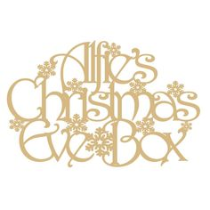 Personalised Christmas Eve Box Topper (small) By Crafty Pig Designs
