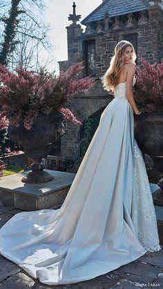 galia lahav bridal spring 2017 strapless sweetheart corset bodice aline wedding dress ( guerlain) bv overskirt train