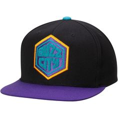 Men s Charlotte Hornets Mitchell   Ness Purple Current Logo Wool Solid  Snapback Adjustable Hat 8f1426dde03a