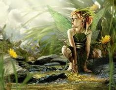 Fairy by the stream