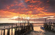 sky on fire. gorgeous shot! wish i knew where this was taken. _Pedro Santos