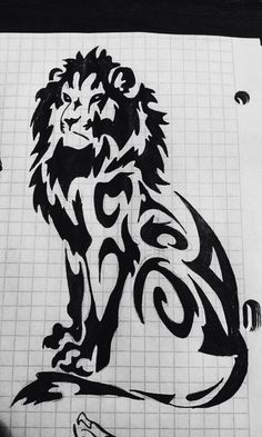 A simple tattoo sketch of lion. (Friend's sketch, not mine). Hope you'll like it :)