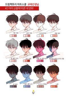 Manga Drawing Tutorials (Anime Drawings) - Page 2 of 2 - Digital Painting Tutorials, Digital Art Tutorial, Art Tutorials, Drawing Tutorials, Anime Drawings Sketches, Manga Drawing, Skin Drawing, Drawing Faces, Manga Art