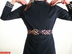 1960's Red White and Blue Mod Braided Belt by sideshowsam on Etsy, $18.00