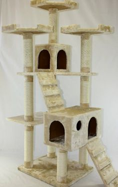 """72""""Cat Tree House Toy Bed Scratcher Post Furniture"""