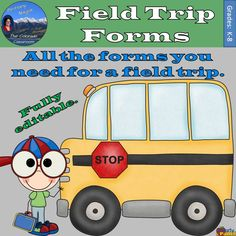 Field Trip Forms has thirty (30) different forms you might need to run your own field trip. Almost all are fully editable and can be made to fit your field trip and your details. •6 Permission Slips •4 Reminder Preparation Sheets •5 Chaperone Packets •2 Name Tag Documents (Basic & Detailed) •1 Collection Form •1 Money Turn In Form •2 Collection Forms •1 Envelope Labels •1 Activity Planner •2 Group Selection Forms •3 Wristlets Reminders •2 Reflection Logs