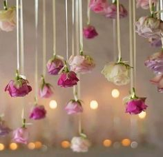 Wedding decorations romantic hanging flowers for 2019 Floral Wedding Decorations, Flower Decorations, Wedding Centerpieces, Wedding Flowers, Wedding Deco Ideas, Wedding Inspiration, Hanging Decorations, Style Inspiration, School Dance Decorations