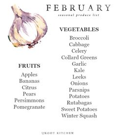 Today, I'm sharing my February Seasonal Produce List! Every month this year, I will be sharing a seasonal produce list so that you all can have a handy dandy printable to save on your phones, or reference when making a grocery list. In addition, my website is organized so that you can look at my Ingredient Index for a specific ingredient, and find recipes based on what you might have in the fridge. I hope this gives you inspiration to eat with the season this month - and perhaps get…
