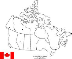 Canada Map - label provinces and capitals