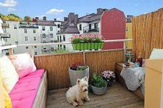 süßes terrassen design mit einem rosigen sofa - Die besten Ideen für Terrassengestaltung – 69 super Beispiele