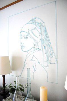 Wanddekoration Ideen frau blau