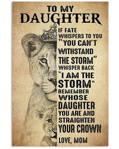 Love You Daughter Quotes, Mother Daughter Quotes, To My Daughter, My Beautiful Daughter, Daughter Birthday, Sayings About Daughters, Son Sayings, To My Mother, Mothers Love