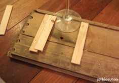 wow! make your own EASY wine glass holder! we're gonna do it