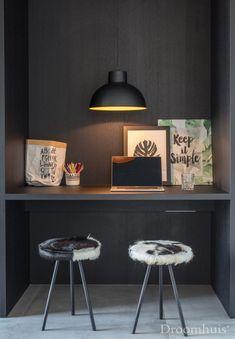Schuurwoning Hardenberg-29 Simple, Interior, Table, Furniture, Home Decor, Modern, Greenhouses, Desk, House