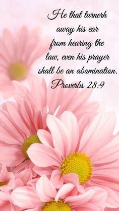Proverbs 28:9 King James KJV