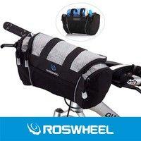Wish | Roswheel 5L Bike Handlebar Bag Bicycle Front Tube Pocket Shoulder Pack Riding Cycling Supplies