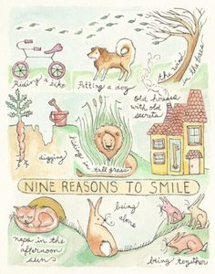 9 reasons to smile by Laurajean