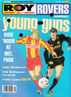 Subbuteo on comic cover