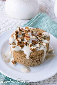 Sugar Free Coffee Toffee Mug Muffin- low carb, grain free, gluten free, -sugarfreemom.com