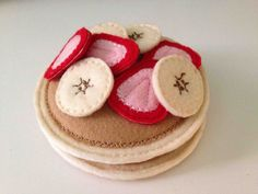 Felt Pancakes with Strawberries and Bananas by TheStitchingPickle, $12.00