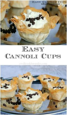 Easy Cannoli Cups and Family Night with Stouffer's, Nestle and Ice Age - italian desserts Mini Desserts, Just Desserts, Delicious Desserts, Yummy Food, Easy Italian Desserts, Finger Desserts, Baking Recipes, Cookie Recipes, Dessert Recipes
