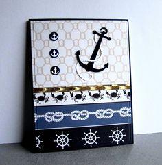 card nautical anchor rudder