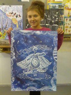 Фотография Group Art Projects, Projects For Kids, 7th Grade Art, Art Lessons Elementary, Winter Art, Art Lesson Plans, Art Journal Pages, Art Club, Summer Art