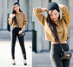 Zara Sweater, Zara Pants, Dkny Purse