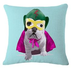 Choice Of 16 Adporable Printed French Bulldog Cushion Without Core