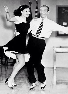 "Paulette & Fred Astaire ""Second Chorus"" Henry C. Paulette & Fred Astaire ""Second Chorus"" Henry C. Golden Age Of Hollywood, Classic Hollywood, Old Hollywood, Lindy Hop, Fred Astaire, Shall We Dance, Lets Dance, Bailar Swing, Paulette Goddard"
