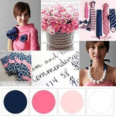 Navy, Pink, and White | The Perfect Palette