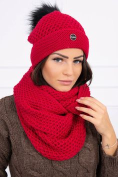 Moderná dámska čiapka a šál vo veľkosti UNI Uni, Fashion, Moda, Fasion, Trendy Fashion, La Mode