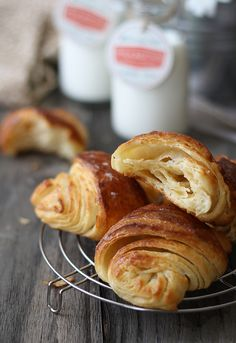 {Home made croissants} Step by step with photos
