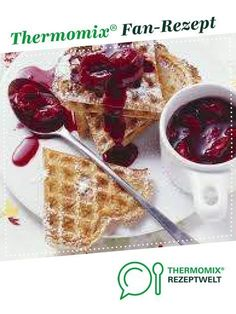 Kirschsauce zu Waffeln Cherry sauce with waffles from bine Thermomix. A Thermomix ® recipe from the Sauces / Dips / Spreads category www.de, the Thermomix® Community. How To Make Dough, Food To Make, Candy Recipes, Baby Food Recipes, Fermented Bread, Dessert Drinks, Desserts, Cherry Sauce, Food Processor Recipes
