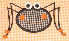Halloween Spider Embroidery Designs. You get 2 designs, Applique & Fill