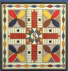 Antique Painted Parcheesi Gameboard Square) sold by Northeast Auctions for eleven thousand six hundred dollars