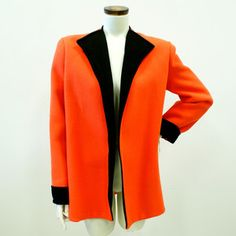 60s Bright Coat Black And Orange now featured on Fab.