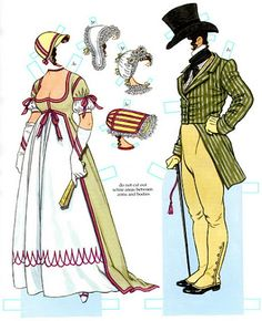 Empire Costumes Paper Dolls by Tom Tierney (4 of 9), Dover Publications | Gabi's Paper Dolls