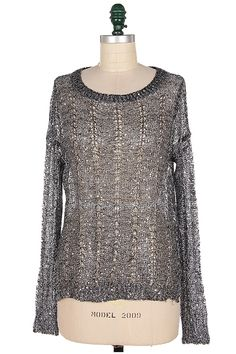 Crochet Brice Sweater in Silver | Awesome Selection of Chic Fashion Jewelry | Emma Stine Limited