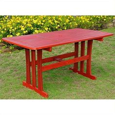 Royal Tahiti Acacia Rectangular Patio Dining Table -- This is an Amazon Associate's Pin. Details on product can be viewed on Amazon website by clicking the image.
