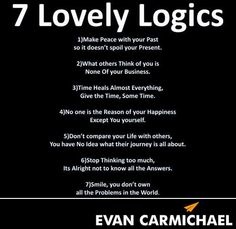 This meme by Evan Carmichael as a good way to prepare for 2014. It lists seven keys to living a happier and more fruitful life...