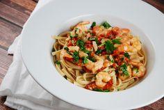 Garlic Shrimp Linguine Recipe - 6 Points +