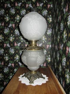 Antique Gone with The Wind Lamp Grapes Design Satin Glass | eBay