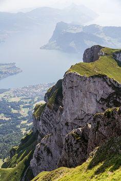Mt. Pilatus, Switzerland...seen it for years. Now I've finally got to climb it!