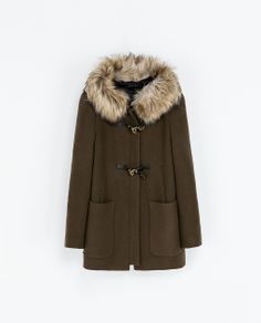 my latest obsession - Zara coats (WOMAN - DUFFLE COAT WITH FUR TRIMMED HOOD)