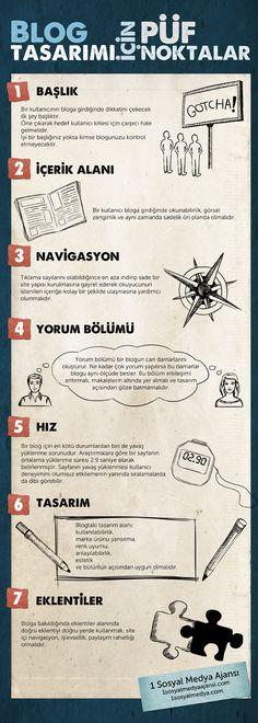 Blog Tasarımı İçin Püf Noktalar - Türkçe İnfografik