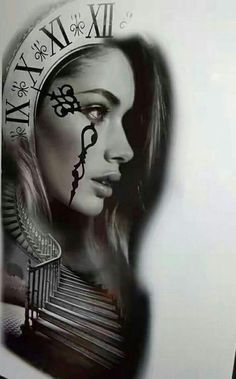 Wolf Tattoos, Life Tattoos, Body Art Tattoos, New Tattoos, Sleeve Tattoos, Tattoo Sketches, Tattoo Drawings, Girl Face Drawing, Geniale Tattoos